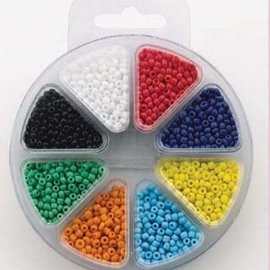 Glass bead kit 8 colors opaque kralenset