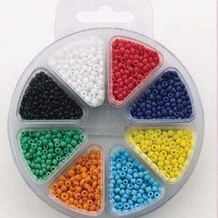 Glass bead kit 8 colors opaque