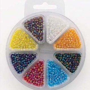 Glass bead kit 8 colors rainbow