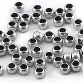 Doosje knijpkralen (100) zilver 2.5mm