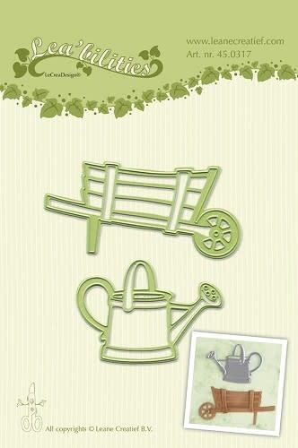 Lea bilitie® Barrow & watering can snij en embossing mal
