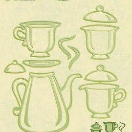 Lea bilitie® Tea set snij en embossing mal
