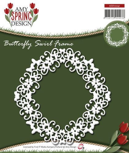 Die - Amy Design - Spring - Butterfly Swirl Frame