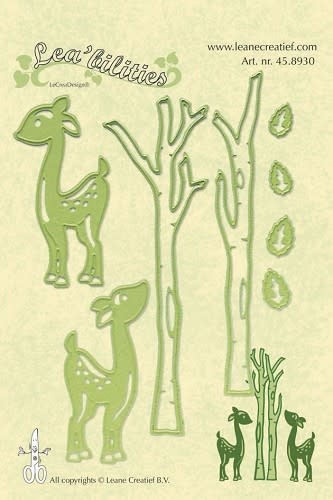 Lea bilitie® deer & trees snij en embossing mal
