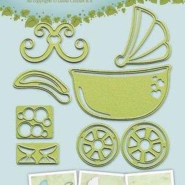 Lea bilitie® Baby stroller-cradle-bath snij en embossing mal