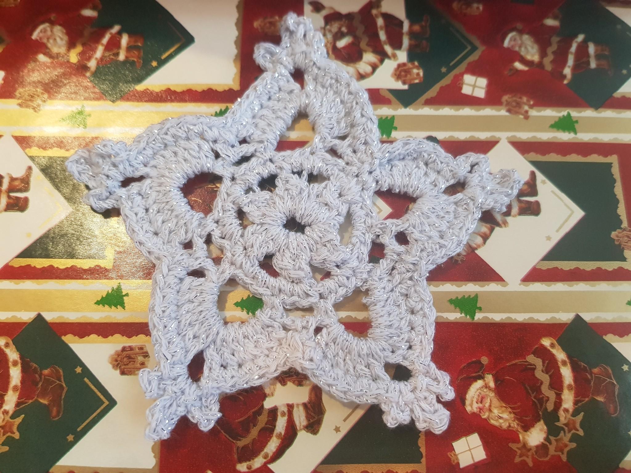 Sneeuwvlok haken van lammy yarns prestige garen