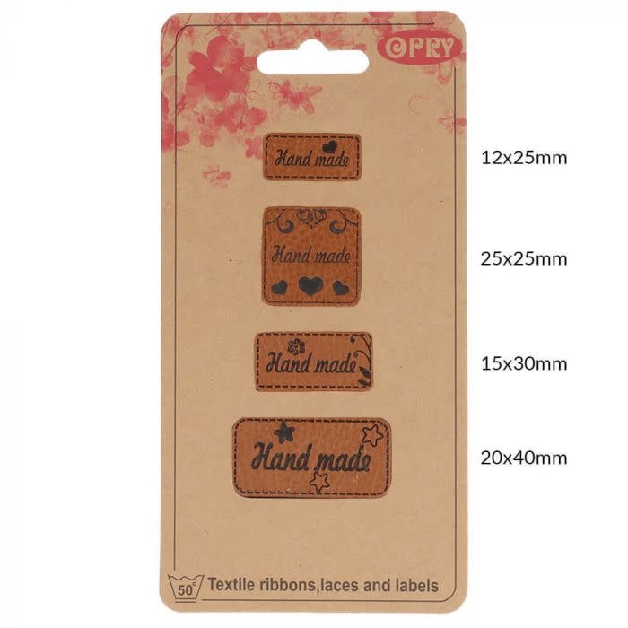 Leren labels handmade