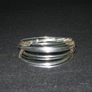 Rol verzilverd draad 1.0 mm -4 mtr