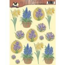 merel design knipvel  lente bloemen 2436