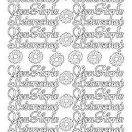 Stickers van harte beterschap zilver platinum