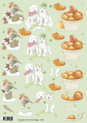 3D knipvel hondjes met pompoen