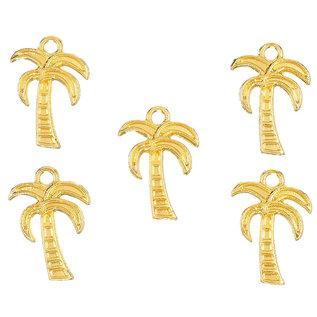 Metalen hangers/bedels palmboom 18x13mm goud