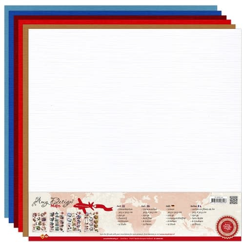 Linnenkarton pakket - 30,5x30,5 scrap - Amy Design - Maps