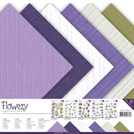 Linnenkarton pakket - 30,5x30,5 Scrap - Precious Marieke - Flowery