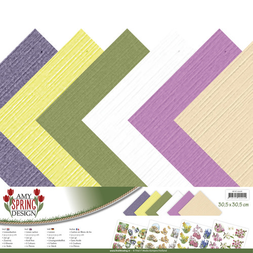Linnenkarton pakket - 30,5x30,5 Scrap- Amy Design - Spring