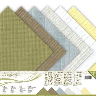 Linnenkarton pakket - 30,5x30,5 Scrap - Precious Marieke - Springtime