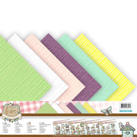 Linnenkarton pakket - 30,5x30,5 Scrap - Yvonne Creations - Spring-tastic