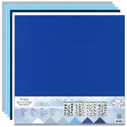 Linnenkarton pakket - 30,5x30,5 Scrap - Yvonne Creations - Playful Winter