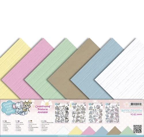 Linnenkarton pakket - 30,5x30,5 Scrap- Yvonne Creations - Smiles, Hugs and Kisses