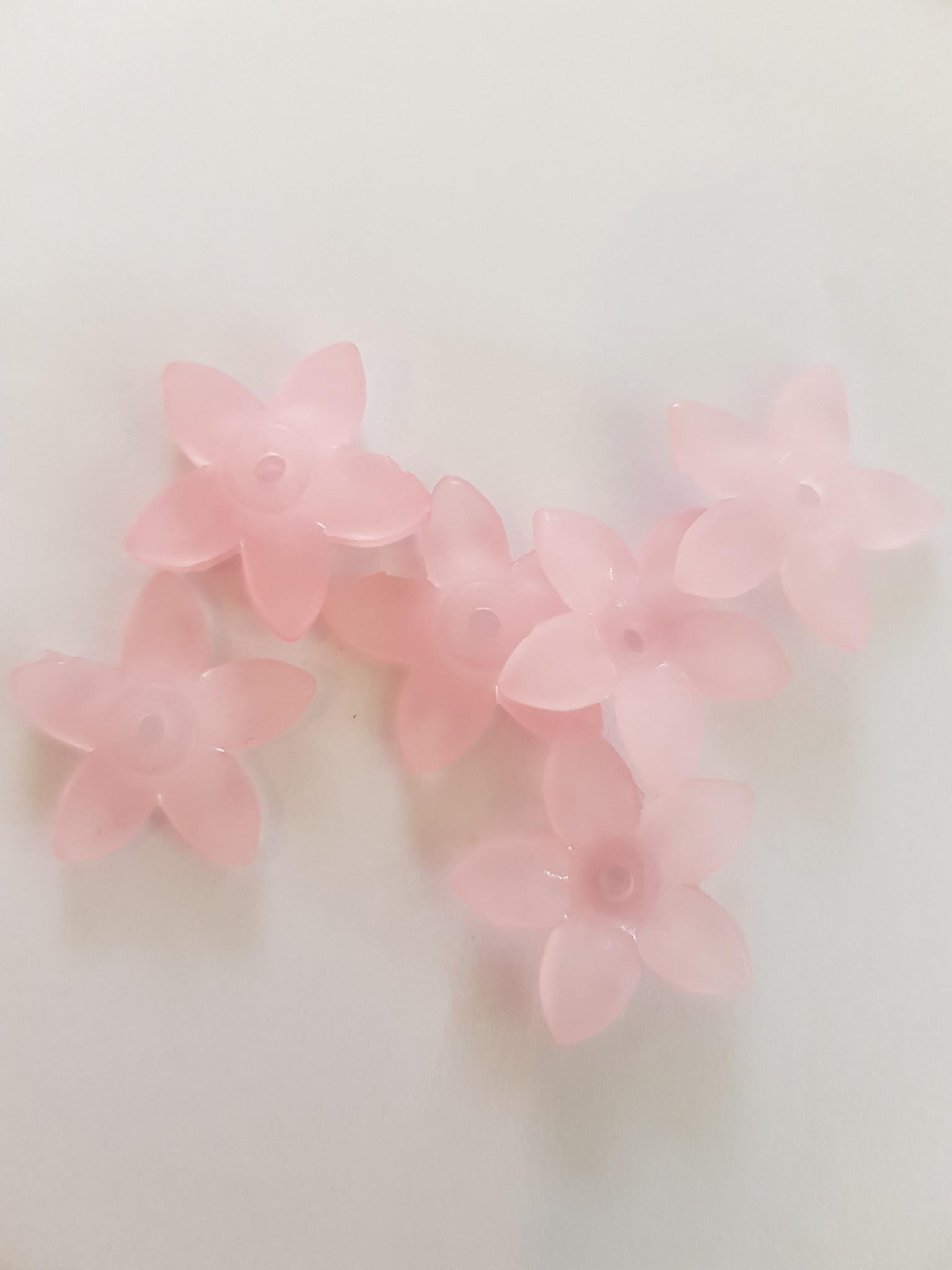 Roze madelief 18mm (66x in zakje)
