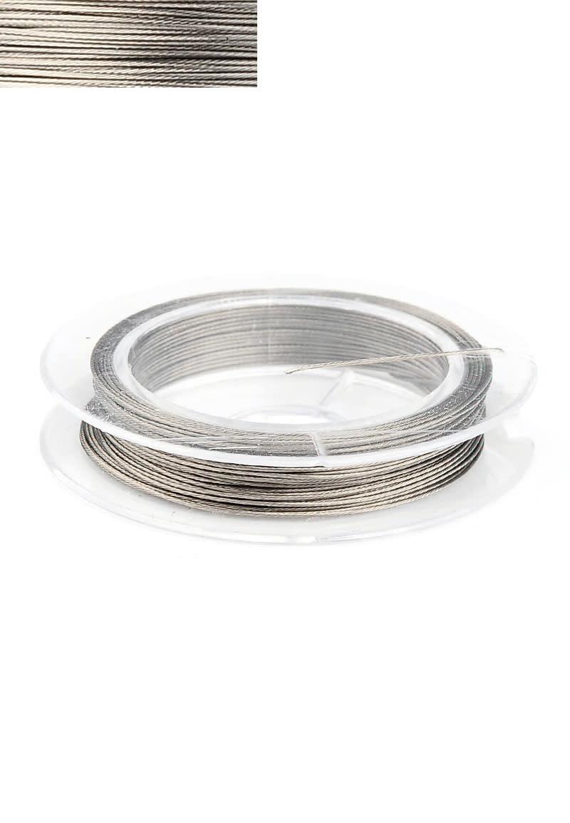 Staal metaal draad met coating 0.38mm rol 10 meter