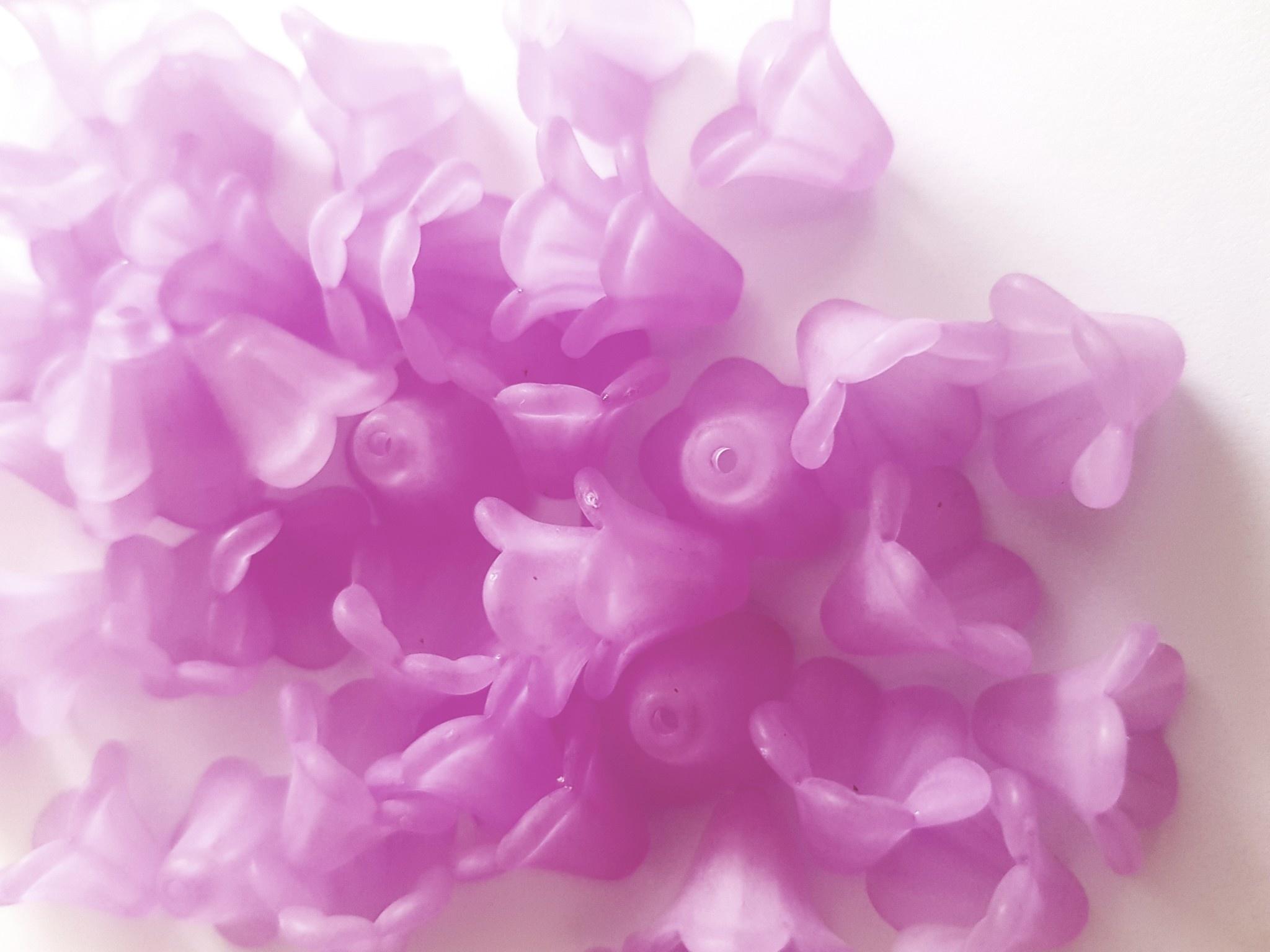 Lila kelk bloemkapjes (+/- 38x)