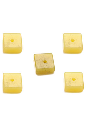 Natuursteen kralen Korean Jade rondel vierkant ± 8mm (per 10st)
