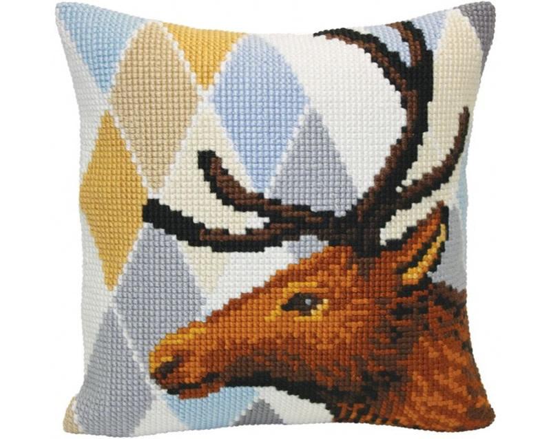 Kussen borduurpakket Deer - Collection d'Art