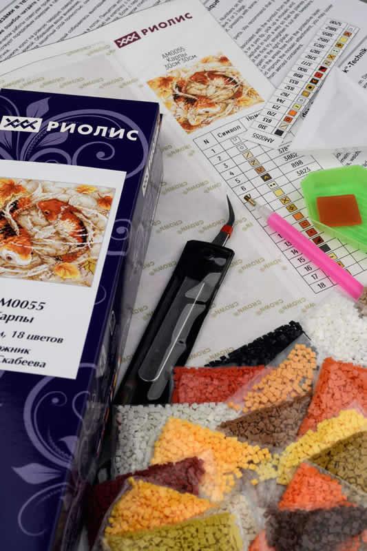 Diamond Mosaic Carps - RIOLIS