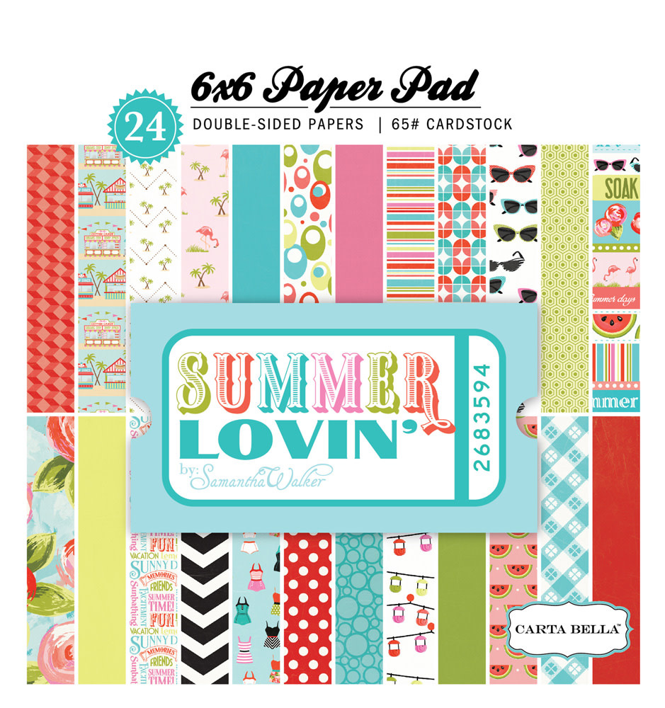 6x6 paper pad summer loving