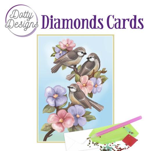 Dotty Designs Diamond Cards - Three Birds