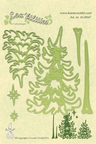 Lea bilitie® pine tree snij en embossing mal