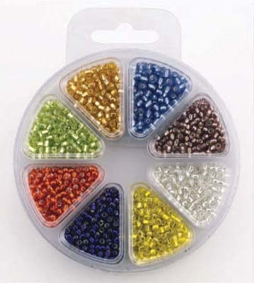 Glass bead kit 8 colors silverlined