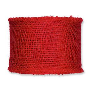 Jute band lint breed rood (per meter)