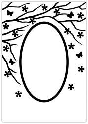 Nellie Snellen - Embossing folder - spring is in the air - round
