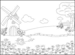 Nellie Snellen - Embossingfolder - Picture folder - Windmill