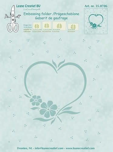 Embossing folder Frame blossom heart 14.4x16cm