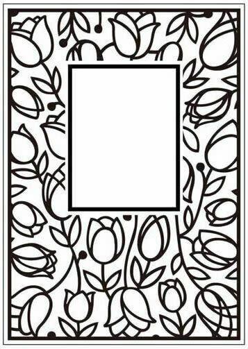 Crafts too embossing folder tulip window