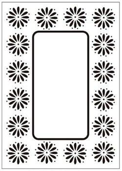 Crafts Too embossing folder Daisy frame