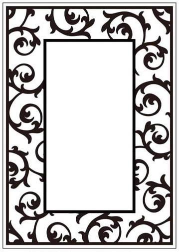 Crafts too embossing folder scrollwork frame