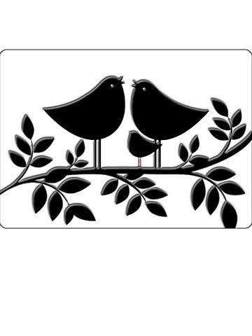 Embossingfolder Crafts too tweet tweet