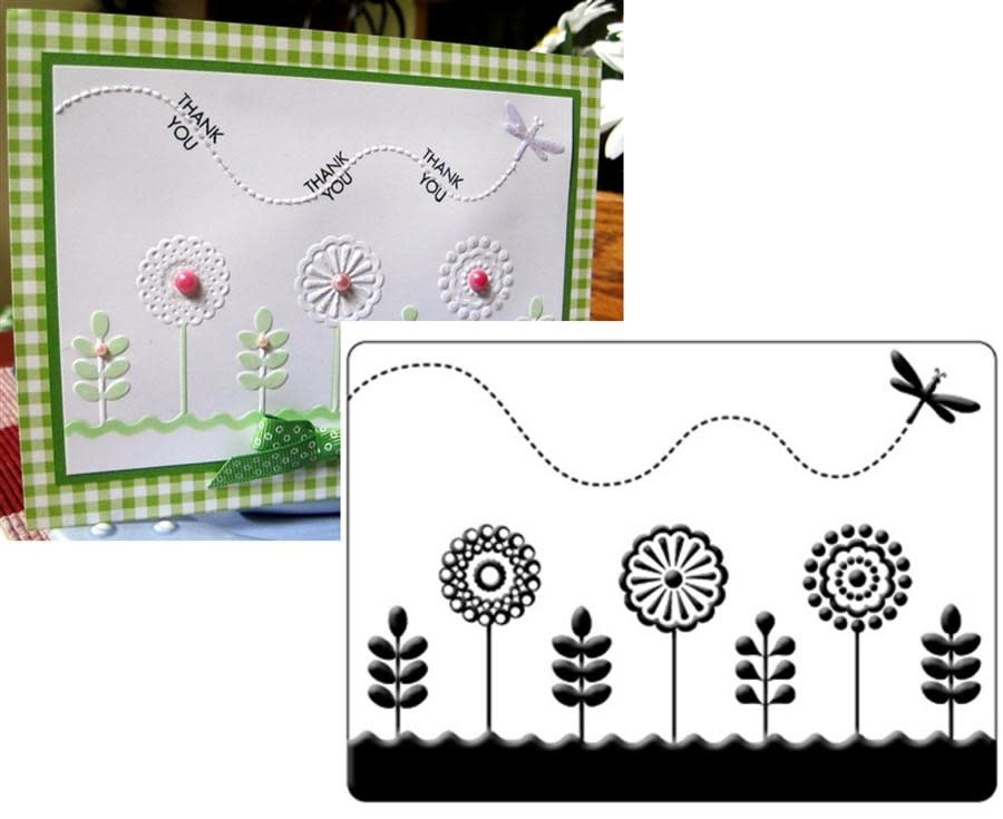 Crafts-Too  Embossing Folder, Spring Garden