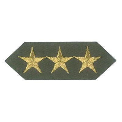 Applicatie uniform embleem 75x25mm zilveren sterren