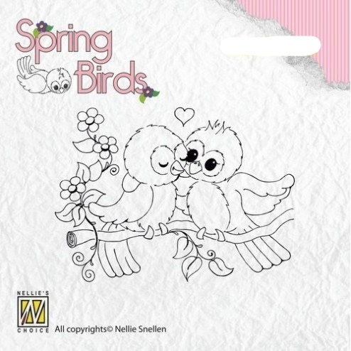 Spring birds stempel