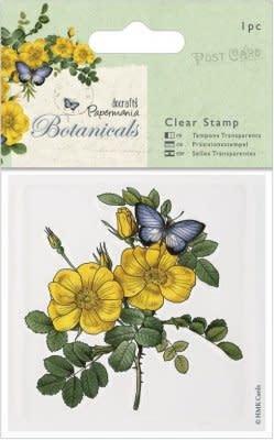 Docrafts 80 x 80mm Botanicals Clear Stamps - Wild Rose