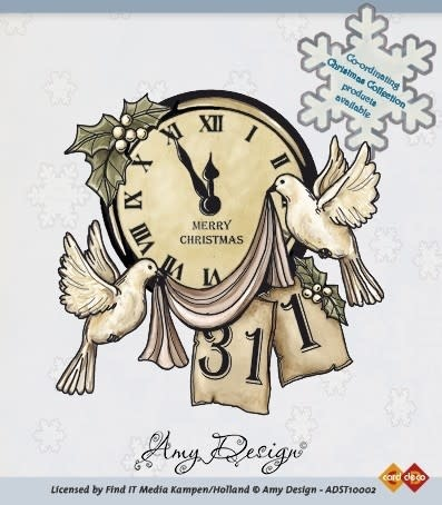 Clear stamp - amy design clock with doves