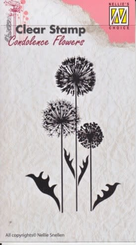 """Clear stamps Condolence flowers """"bloemen-6"""""""