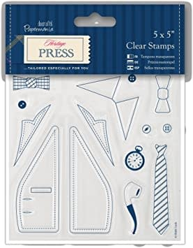 5x5'' heritage press clear stamps dapper gent