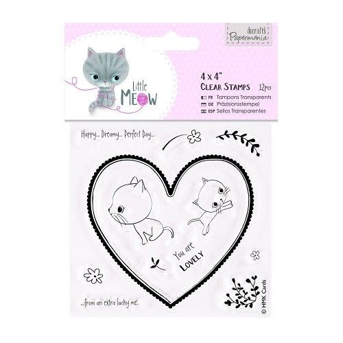"""Clear stamp little meow you are lovely 4x4"""""""