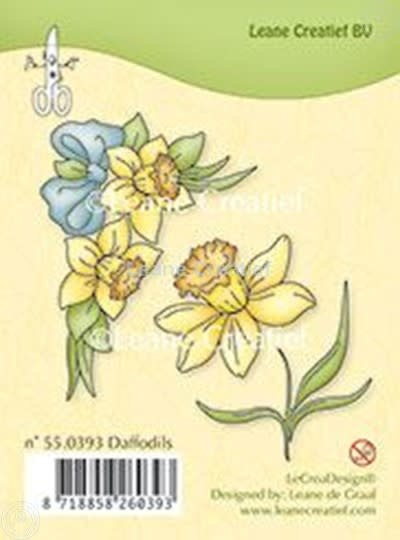 Leane creatief  Clear stamp Daffodils